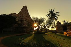 N-TN-C94_A_View_at_Sunset_of_Brihadiswara_Temple